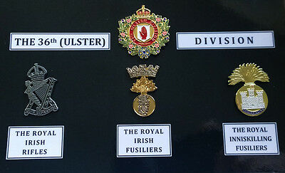 36th Ulster Division Commemorative Badge Set (WW1, Donation to HELP FOR HEROES)