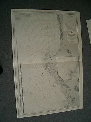 Vintage Admiralty Chart 2091 S. AFRICA - TABLE BAY to DONKIN BAY 1934 edition