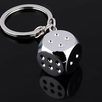 Fashion Key Ring Holder Keychain Keyrings Ideal Gifts Vintage 3D Dice Shape