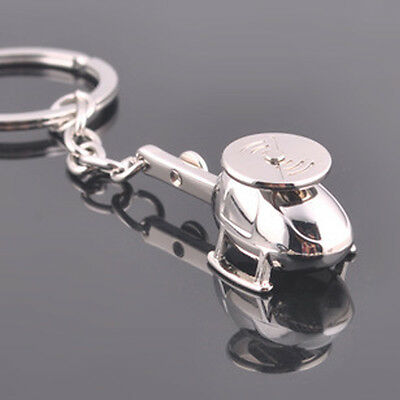 Modern Technology Metal Helicopter Model Key Chain Bag Ornaments Men's Key Chain