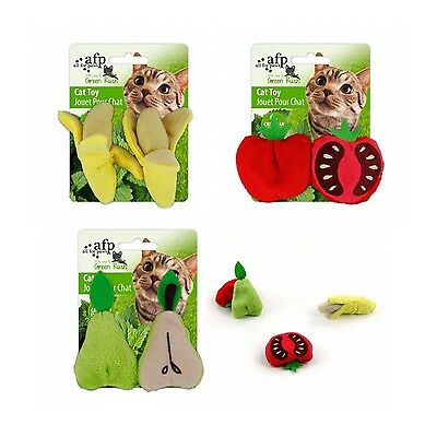 SALE All For Paws AFP Green Rush Fruits On The Loose Cat Kitten Catnip Toy