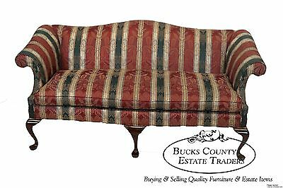 Harden Traditional Queen Anne 18th Century Style Camelback Sofa