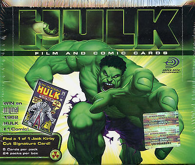 THE INCREDIBLE HULK FILM AND COMIC Sealed WAX BOX CARDS CARD