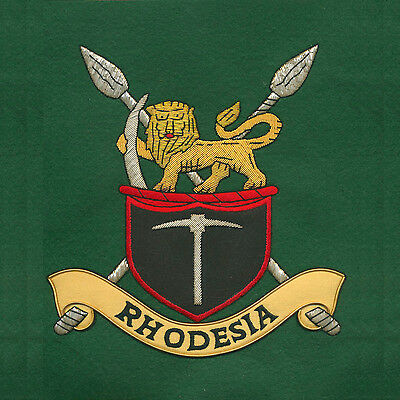 Large Wire Embroidered Rhodesian Army Emblem Rhodesia