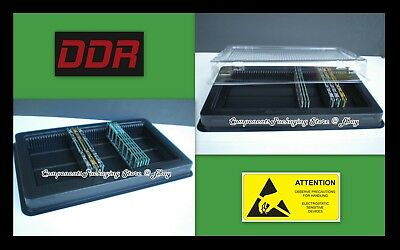 2 Computer Memory Packaging Tray Case for Desktop PC DDR Modules - Fits 100 New