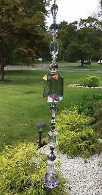 Spiritual/Healing Purple Crystal Swarovski Element Suncatcher/Prism Ball USA