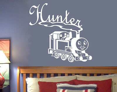 Thomas the Train Personalized Name Vinyl Wall Decal Nursery Wall Art Kids Room