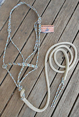 PROFESSIONALLY MADE ROPE HALTER and 6FT LEAD SET Over 35 colours avaiable