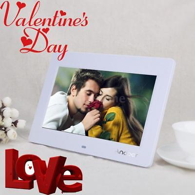 """Digital Photo Frame 10"""" Inch LCD Picture Calendar Clock MP3/4 Movie Player White"""