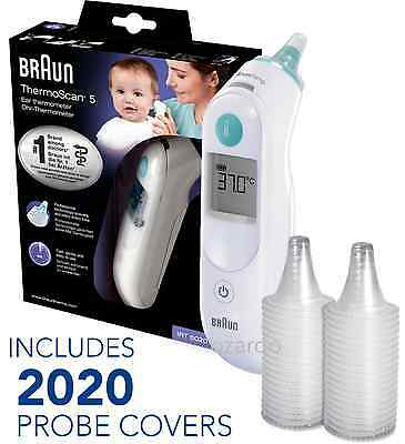 NEW Braun ThermoScan 5 6020 Baby Digital Ear Thermometer with 2020 Probe Covers