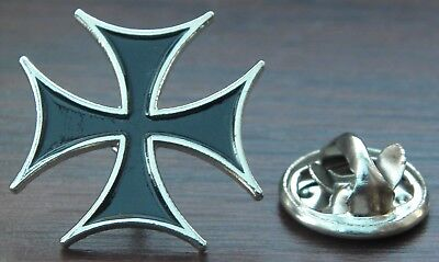 Maltese Cross Lapel Hat Cap or Tie Pin Badge Brooch Iron cross Amalfi Malta