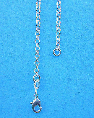 Wholesale 1PCS Fashion Jewelry 925 Sterling Silver Plated Cross Necklaces Chains
