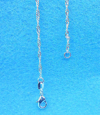 "Wholesale 1PCS Jewelry 925 Sterling Silver Plated ""Water Wave"" Chain Necklaces"