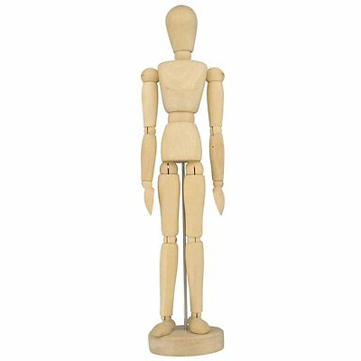 "Artists Wooden Manikin Mannequin Lay Figure 12"" Bendy Man"