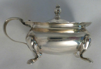 Barker Ellis English Birmingham Sterling Condiment/Mustard Pot W/ Liner