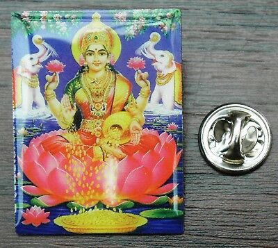 Shri Lakshmi Pin Badge Mahalakshmi Wealth Goddess Laksmi Shree Diwali Hindu