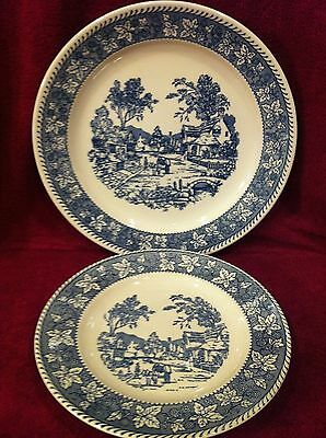 WHITE/BLUE...HOMER LAUGHLIN...STRATWOOD COLLECTION..SHAKESPEARE COUNTRY...