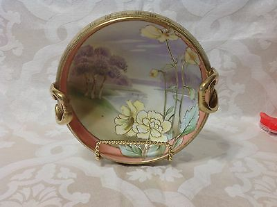 1911 Ant Nippon Floral/Gilt Hand Painted Handled Bowl; Perfect Beauty