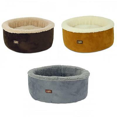 All For Paws AFP Lamb Curl and Cuddle Cat Kitten Bed 40.6x40.6x17.8