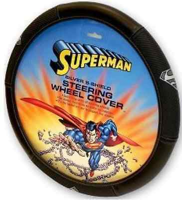 NEW Superman Silver Shield Steering Wheel Cover
