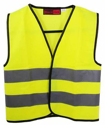 Blackrock Childs Kids Safety Hi Vis Vest Waistcoat Yellow High Viz Various Sizes