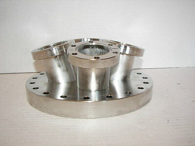 """MDC 8"""" High Vacuum Research Chamber Flange + (4) 2.75"""" Flange Ports Varian"""