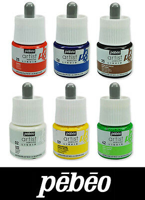 Pebeo Artist Liquid Acrylic Drawing & Airbrush Ink 45ml 26 Colours Available