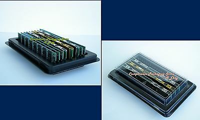 4 DDR Server Memory Tray Holder Box Fits up to 40 DIMM Modules Anti Static  New
