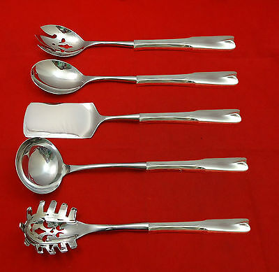 Colonial Theme by Lunt Sterling Silver Hostess Set 5pc HHWS  Custom Made