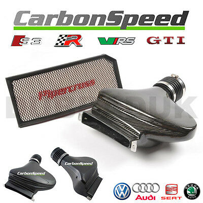 AUDI A3 S3 2.0 TFSI CARBON AIR BOX INDUCTION INTAKE KIT inc PIPERCROSS FILTER