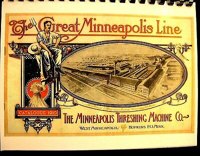 1910 The Great Minneapolis  Line Sales Catalogue-Mpls Threshing Machine Co.  FSH