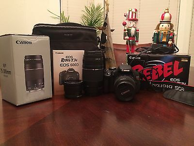 Canon Rebel T3i (extra lens & bag inicluded) GREAT condition