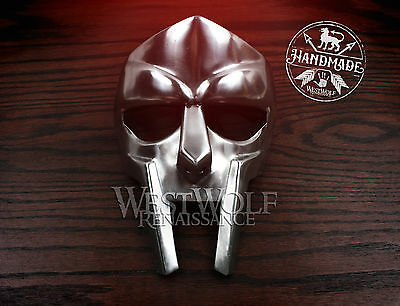 STEEL GLADIATOR FACE MASK - Hand-Made - helmet/roman/forged/armor/rapper/mf doom