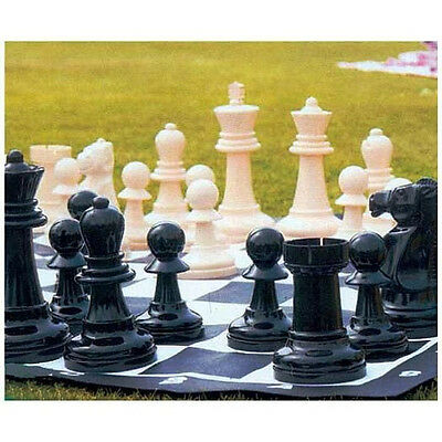 New Large Garden Chess Set Game Board Big Giant Pieces Outdoor Lawn Patio Kids