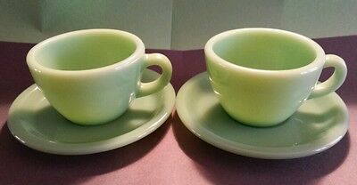 Fireking Restaurant Ware 2 Cups and 2 Saucers