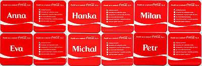 SET # 5* 6 vintage coasters COCA COLA Share a Coke with name * limited edition !