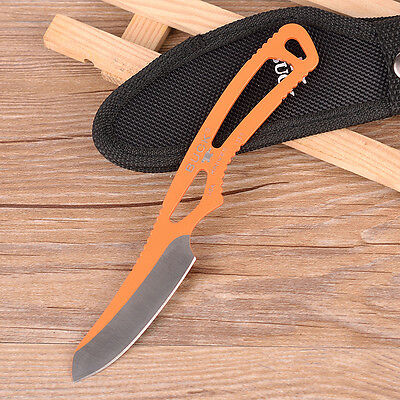 Buck Knives Hunting Paklite Caper 0135BKS-B Fixed Blade Neck Knife Orange BJ3