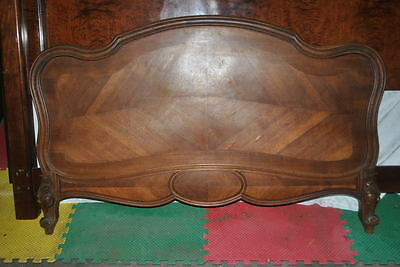 Antique French Rococo Full Size Bed, Carved Walnut, Circa 1870