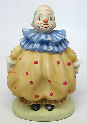 Roly Poly - Big Bottom - Fat Clown Figurine in Gold with Red Polka Dots