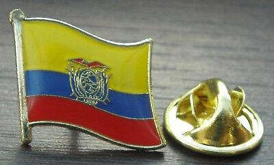 Ecuador Country Flag Lapel Hat Cap Tie Pin Badge Brooch República Del  Ecuador