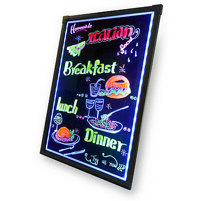 16X12 Erasable Flashing Illuminated Menu Sign LED Writing Message Board W Remote
