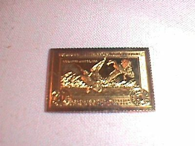 24K GOLD on STERLING SILVER Duck STAMP 4 grams