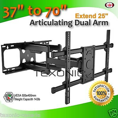 """Solid Heavy Duty Tv Wall Mount Fits 37-70"""" Tv Articulating For Plasma Lcd Led *"""
