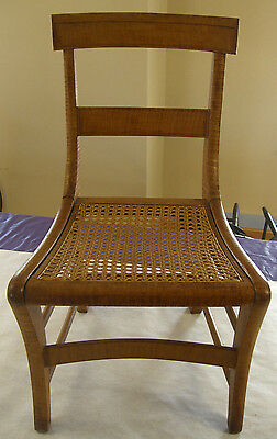 Andy Rooney's Tiger Maple Wicker Chair, c.1900  (Personally bought from Estate)