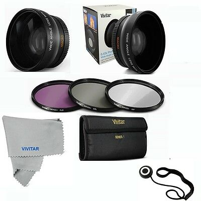 58MM Wide Angle Lens +MACRO + UV CPL FLD FilteR For Canon EF-S18-55 T5 T4 T3 T3I