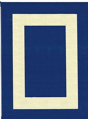 RV Camping Outdoor Reversible Mat 9' x 12' Blue, Beige Square