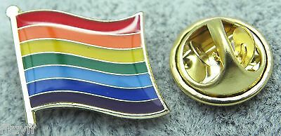 10 x Rainbow Flag Lapel Pin Badge Pride LGBT Lesbian Gay Diversity Symbol Sign