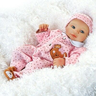 Teddy Bear Twin - Abigail, 16 inch Baby Doll in GentleTouch Vinyl, Weighted Body