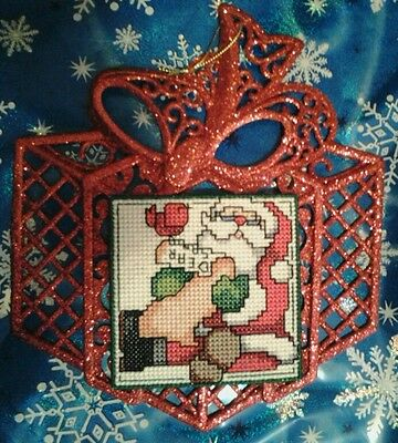 Handmade Cross Stitched Christmas Ornaments