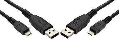 2 Pack USB Micro Data Charging Sync Cable LG Tribute Transpyre True Smart Phones